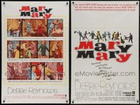 4x0242 LOT OF 7 FOLDED MARY, MARY ONE-SHEETS 1963 Debbie Reynolds, two different images!