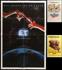 4x0251 LOT OF 4 FOLDED ONE-SHEETS 1970s-1980s E.T., Papillon, Last Detail, Hollywood Knights!