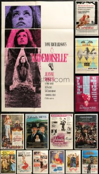 4x0228 LOT OF 16 FOLDED ONE-SHEETS FROM FRENCH MOVIES 1950s-1980s images from a variety of movies!
