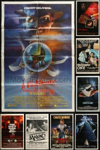 4x0234 LOT OF 12 FOLDED HORROR/SCI-FI ONE-SHEETS 1970s-1980s great images from a variety of movies!
