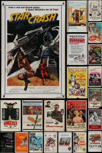 4x0163 LOT OF 84 FOLDED ONE-SHEETS 1950s-1990s great images from a variety of different movies!