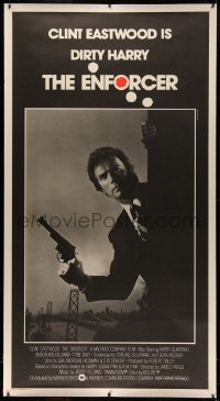 4y0010 ENFORCER linen 3sh 1976 photo of Clint Eastwood as Dirty Harry with gun by Bill Gold!