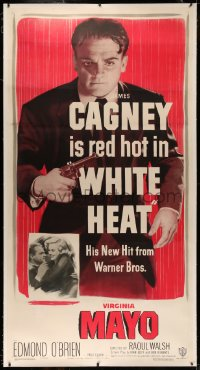 4y0019 WHITE HEAT linen 3sh 1949 best full-length image of James Cagney, top of the world, Ma, rare!