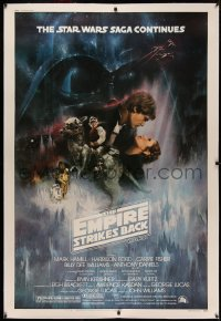 4y0004 EMPIRE STRIKES BACK linen 40x60 1980 classic Gone With The Wind style Roger Kastel art!