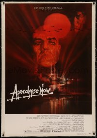 4y0026 APOCALYPSE NOW linen 1sh 1979 Francis Ford Coppola, classic Bob Peak art of Brando and Sheen!