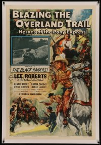 4y0033 BLAZING THE OVERLAND TRAIL linen chapter 3 1sh 1956 Cravath art of Heroes of the Pony Express!