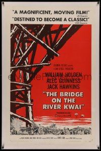 4y0040 BRIDGE ON THE RIVER KWAI linen style A 1sh 1958 William Holden, Alec Guinness, David Lean