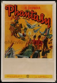 4y0053 COLUMBIA PHANTASY CARTOON linen 1sh 1939 Columbia, cool art of Mother Goose & other characters!