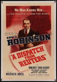 4y0068 DISPATCH FROM REUTERS linen 1sh 1940 Edward G. Robinson as founder of first great news agency!