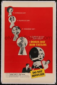 4y0069 DO NOT DISTURB linen 1sh 1965 Doris Day, Rod Taylor, Hermione Baddeley, cool keyhole image!