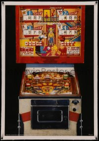 4z0162 PINBALL MACHINE linen 25x37 Dutch commercial poster 1985 Dodge City designed by Ed Krynski!