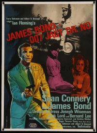 4z0075 DR. NO linen German 1963 Sean Connery as James Bond, different & ultra rare first release!