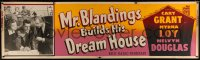 4z0008 MR. BLANDINGS BUILDS HIS DREAM HOUSE paper banner R1954 Cary Grant, Myrna Loy, Melvyn Douglas