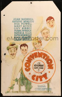 4z0174 CONVENTION CITY WC 1933 art of Joan Blondell, Dick Powell & top cast, pre-Code & ultra rare!