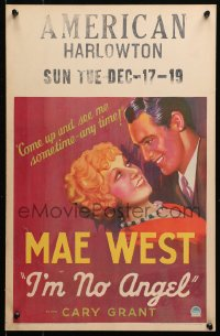4z0182 I'M NO ANGEL WC 1933 Mae West tells Cary Grant to come up and see her sometime - any time!