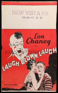 4z0185 LAUGH CLOWN LAUGH WC 1928 great art of Lon Chaney with 15 year-old Loretta Young, very rare!