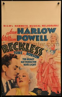 4z0193 RECKLESS WC 1935 different image of sexy Jean Harlow c/u & with William Powell, ultra rare!