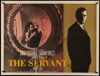5a0012 SERVANT British quad 1964 written by Harold Pinter, directed by Joseph Losey, Dirk Bogarde!