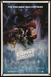 5a0017 EMPIRE STRIKES BACK studio style 1sh 1980 classic Gone With The Wind style by Roger Kastel!