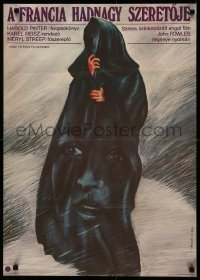 5a0034 FRENCH LIEUTENANT'S WOMAN Hungarian 22x31 1983 different Miklos art of Meryl Streep, rare!
