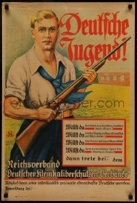 5a0038 DEUTSCHE JUGEND 19x28 German special poster 1920s group that predated Hitler Youth, rare!