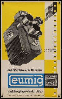 5a0039 EUMIG 25x39 Danish advertising poster 1959 cool early electric video camera, Andersen art!