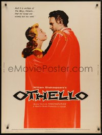5b0363 OTHELLO 30x40 1961 Bondarchuk, Russian version of Shakespeare's tragedy!