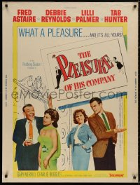 5b0367 PLEASURE OF HIS COMPANY 30x40 1961 Fred Astaire, Debbie Reynolds, Lilli Palmer, Tab Hunter!