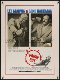 5b0369 PRIME CUT style B 30x40 1972 Lee Marvin w/machine gun, Gene Hackman w/cleaver, ultra rare!