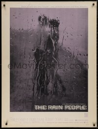 5b0370 RAIN PEOPLE 30x40 1969 Francis Ford Coppola, Robert Duvall, cool wet window image, rare!