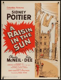 5b0371 RAISIN IN THE SUN 30x40 1961 Sidney Poitier, Hansberry's prize-winning play, ultra rare!
