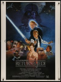 5b0372 RETURN OF THE JEDI style B 30x40 1983 George Lucas classic, Hamill, Harrison Ford, Sano art!
