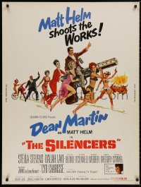 5b0380 SILENCERS 30x40 1966 outrageous sexy phallic art of Dean Martin & Slaygirls by Brian Bysouth!