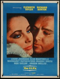 5b0394 V.I.P.S 30x40 1963 great close up of sexy Elizabeth Taylor & Richard Burton!