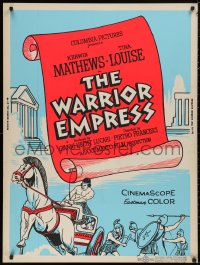 5b0398 WARRIOR EMPRESS 30x40 1961 Tina Louise stormed the battlements of love & war, Kerwin Mathews
