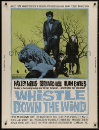 5b0399 WHISTLE DOWN THE WIND 30x40 1962 today's hottest young star Hayley Mills, Bernard Lee!