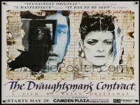 5b0464 DRAUGHTSMAN'S CONTRACT advance British quad R1994 Peter Greenaway, different art by Kruddart!
