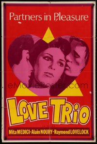 5b0402 LOVE TRIO Canadian 1sh 1971 Mita Medici, Love Trio, three partners in sexy pleasure!