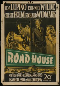 5b0556 ROAD HOUSE Egyptian poster 1950s=1960s Ida Lupino & Cornel Wilde, film noir, cool art!