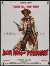 5b0601 MY NAME IS NOBODY style A French 24x32 R1980s Il Mio nome e Nessuno, art of Henry Fonda!