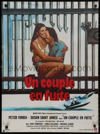 5b0606 OUTLAW BLUES French 23x31 1978 crook Peter Fonda holding sexy Susan Saint James!