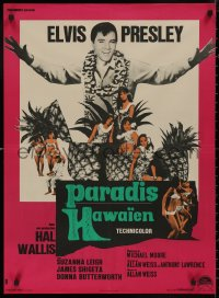 5b0607 PARADISE - HAWAIIAN STYLE French 23x32 1966 different images of Elvis w/tropical babes, rare!