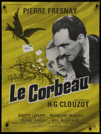 5b0610 RAVEN French 23x30 R1960s French whodunnit directed by Henri-Georges Clouzot!