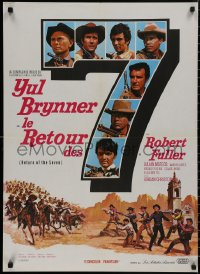 5b0612 RETURN OF THE SEVEN French 23x32 1967 Yul Brynner reprises his role as master gunfighter!
