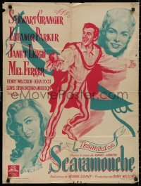 5b0614 SCARAMOUCHE French 24x31 1952 different art of Stewart Granger, Eleanor Parker, Janet Leigh!