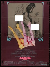 5b0625 WOMEN IN LOVE French 23x31 1970 Ken Russell, D.H. Lawrence, Jackson, artwork by Weevers!