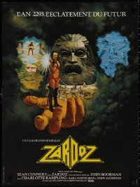 5b0628 ZARDOZ French 23x31 1974 Sean Connery, directed by John Boorman, artwork by Ron Lesser!