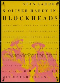 5b0439 BLOCK-HEADS German R1990s different image of Stan Laurel & Oliver Hardy, Hal Roach!