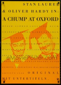 5b0440 CHUMP AT OXFORD German R1990s great different image of Laurel & Hardy wearing cap and gown!