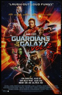 5b0058 GUARDIANS OF THE GALAXY VOL. 2 26x40 video poster 2017 Chris Pratt, Saldana, cast image!